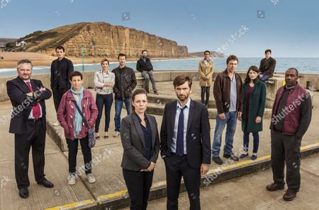 'Broadchurch - Series 3': Charlie Higson as Ian, Sebastian Armesto as Clive, Julie Hesmondhalgh as Trish, Sarah Parish as Cath, MARK BAAZELEY as Jim, Olivia Colman as D.S. ELLIE MILLER as Olivia, Jim Howick as Aaron, David Tennant as D.I Alec Hardy, Georgina Campbell as D.C. Katie Harford, Andrew Buchan as Mark, Jodie Whittaker as Beth, Chris Mason as Leo and Lenny Henry as Ed.