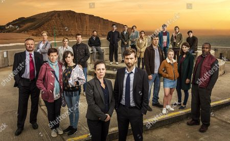 'Broadchurch - Series 3': Charlie Higson as Ian, Carolyn Pickles as Maggie, Julie Hesmondhalgh as Trish, Sarah Parish as Cath, Hannah Millward as Leah, Mark Bazeley as Jim, Jim Howick as Aaron, Olivia Colman as DS Ellie Miller, Sebastian Armesto as Clive, Deon Williams as Michael, David Tennant as DI Alec Hardy, Becky Brunning as Lindsay, Georgina Campbell as DC Katie Harford, Andrew Buchan as Mark, Adam Wilson as Tom, Charlotte Beaumont as Chloe, Hannah Rae as Daisy, Jodie Whittaker as Beth, Chris Mason as Leo and Lenny Henry as Ed.