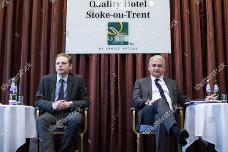 Jack Brereton and Patrick O'Flynn. Hustings in Stoke-on-Trent Central by-election at the Quality Hotel in Stoke