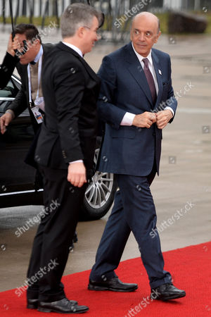 Brazilian Foreign Minister Jose Serra arrives at the World Conference Center Bonn (WCCB) in Bonn, Germany, 16 February 2017. The German FM hosts counterparts from the G20 grouping for a two-day gathering. G20 foreign ministers meet to prepare the upcoming G20 summit in July in Hamburg.
