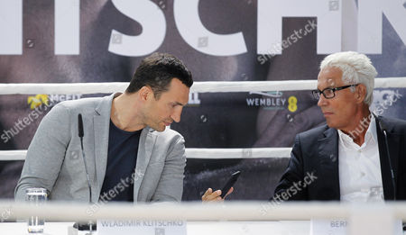 Stock Photo of Wladimir Klitschko and Bernd Boente