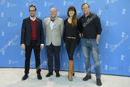 (L-R) Czech director Julius Sevcik, German actor Hanns Zischler, Spanish actress Arly Jover and Czech actor Karel Roden pose during the photocall for 'Masaryk' during the 67th annual Berlin Film Festival, in Berlin, Germany, 16 February 2017. The movie is presented in the Berlinale Special at the Berlinale that runs from 09 to 19 February.