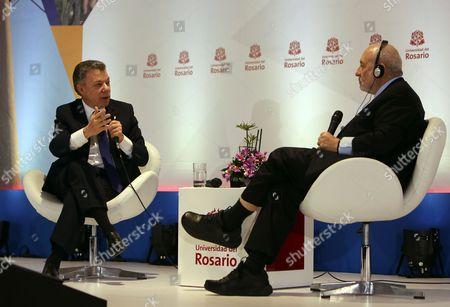 Joseph Stiglitz and Juan Manuel Santos