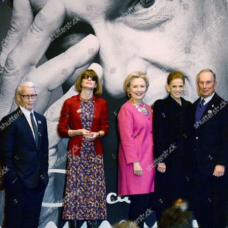 Editorial picture of USPS Oscar de la Renta Forever stamp unveiling, Fall Winter 2017, New York Fashion Week, USA - 16 Feb 2017
