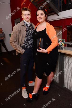 Stock Picture of Jonno Davies with director Alexandra Spencer-Jones