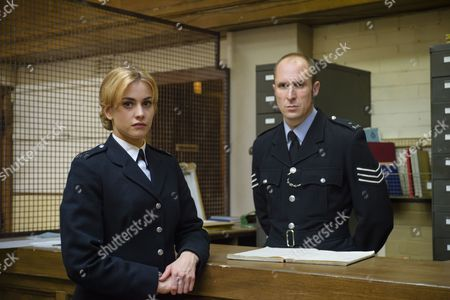 'Prime Suspect 1973' - Stefanie Martini as Jane Tennison and Andrew Brooke as Sergeant Harris.