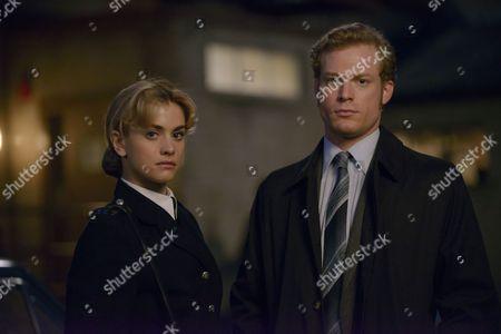 'Prime Suspect 1973' - Stefanie Martini as Jane Tennison and Sam Reid as DCI Len Bradfield.
