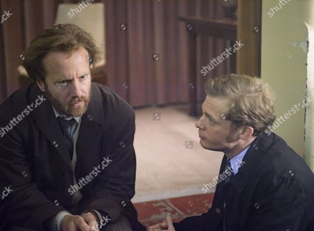 'Prime Suspect 1973' - Sam Reid as DCI Len Bradfield and Geoffrey Streatfield as George Collins.