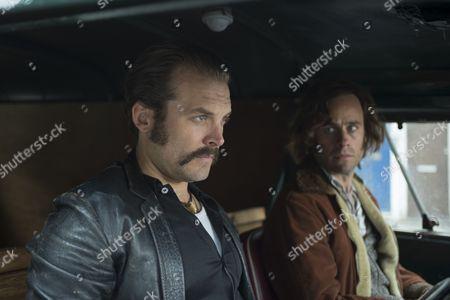 'Prime Suspect 1973' - Lex Shrapnel as John Bentley and Jay Taylor as David Bentley.