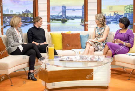 Kate Richardson-Walsh and Helen Richardson-Walsh with Charlotte Hawkins and Ranvir Singh