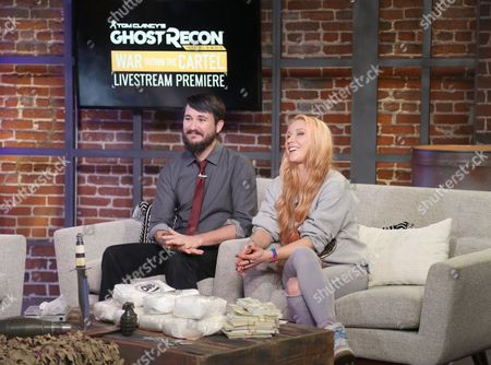 Wil Wheaton, Julia Hardy Wil Wheaton, left, and Julia Hardy host Ubisoft's Tom Clancy's Ghost Recon Wildlands War Within the Cartel livestream event, in Los Angeles