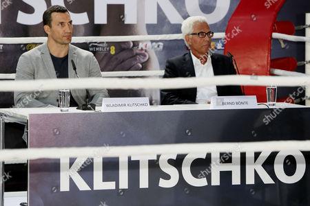 Stock Image of Wladimir Klitschko and Manager Bernd Boente