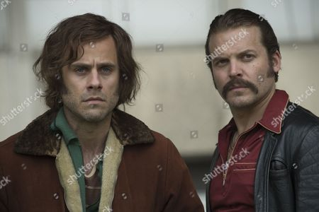 Stock Picture of 'Prime Suspect 1973' (Episode 2) - Lex Shrapnel as John Bentley and Jay Taylor as David Bentley.