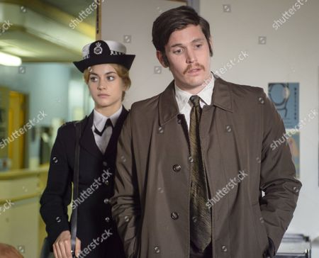 'Prime Suspect 1973' (Episode 2) - Tommy McDonnell as DC Hudson and Stefanie Martini as Jane Tennison.