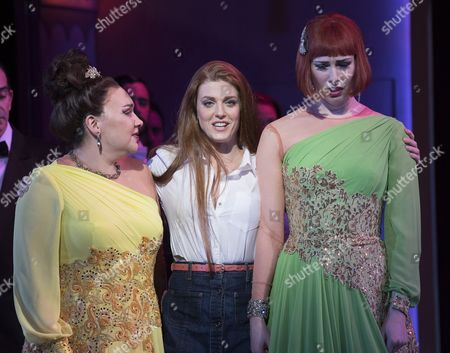 Amy J Payne as Tisbe, Wallis Giunta as Angelina, Sky Ingram as Clorinda,