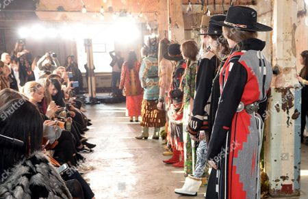 Editorial image of Jessie Western show Autumn Winter 2017, London Fashion Week, UK - 17 Feb 2017