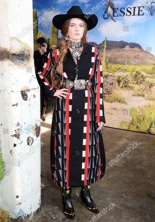 Editorial photo of Jessie Western show Autumn Winter 2017, London Fashion Week, UK - 17 Feb 2017