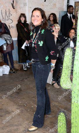 Vicky Western on the catwalk