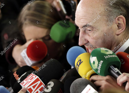The lawyer for Spain's Princess Cristina de Borbon, Miquel Roca, addresses the media in Barcelona, Spain, 17 February 2017, shortly after a court announced that Cristina de Borbon was acquitted of having collaborated with her husband, Inaki Urdangarin, in committing two tax offenses, as part of the trial in the so-called Noos corruption case. The court in Palma de Mallorca, Majorca Island, sentenced Princess Cristina's husband Inaki Urdangarin to six years and three months in jail for irregularities in the management of the public funds at the Noos Institute.