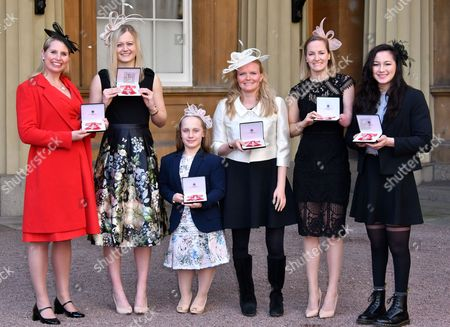 Stephanie Millward MBE, Hannah Russell MBE, Eleanor Robinson MBE, Susannah Rodgers MBE, Claire Cashmore MBE, Alice Tai MBE