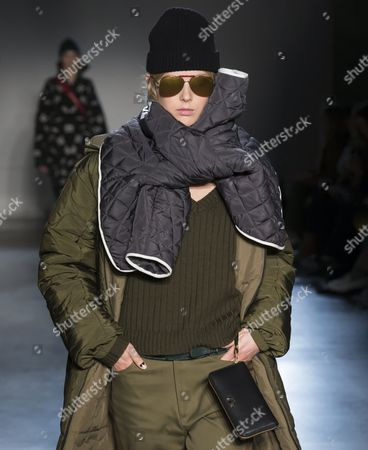 Stock Picture of Ulrikke Hoeyer on the catwalk