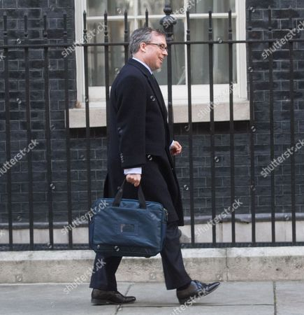 Ed Llewellyn, Her Majesty's Ambassador to France arrives at Downing Street