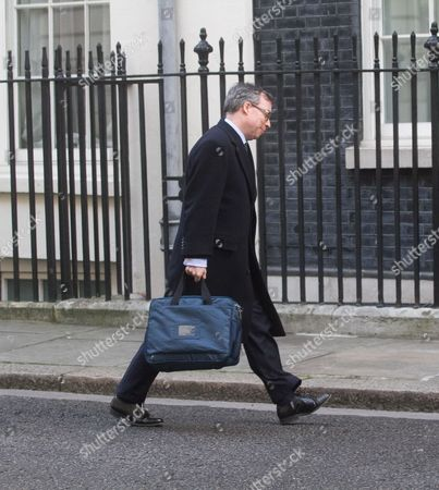 Stock Image of Ed Llewellyn, Her Majesty's Ambassador to France arrives at Downing Street