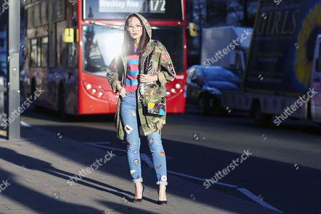 Editorial photo of Street Style, Day 1, Autumn Winter 2017, London Fashion Week, UK - 17 Feb 2017