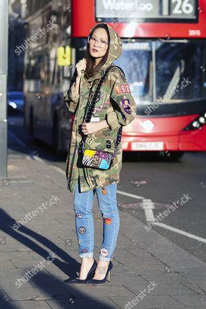 Editorial image of Street Style, Day 1, Autumn Winter 2017, London Fashion Week, UK - 17 Feb 2017