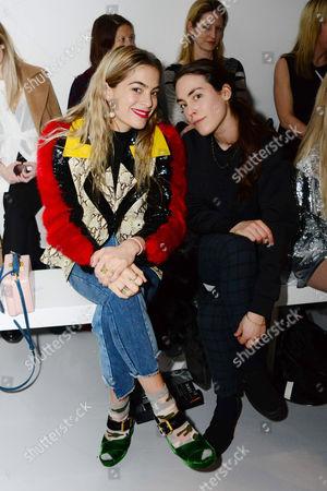 Editorial photo of Ashley Williams show, Front Row, Autumn Winter 2017, London Fashion Week, UK - 17 Feb 2017