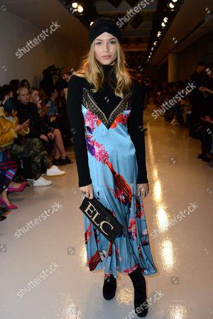 Editorial photo of Teatum Jones show, Front Row, Autumn Winter 2017, London Fashion Week, UK - 17 Feb 2017