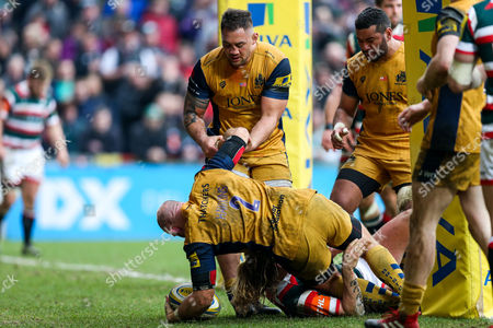 Editorial picture of Leicestyer Tigers v Bristol Rugby, UK - 18 Feb 2017
