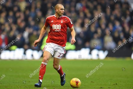 Nottingham Forest midfielder, on loan from Olympiacos, Pajtim Kasami (22) during the EFL Sky Bet Championship match between Nottingham Forest and Sheffield Wednesday at the City Ground, Nottingham