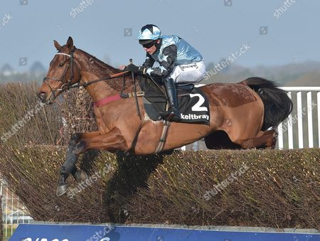 Tenor Nivernais (Liam Treadwell) takes the last on the first circuit before going on to win The Keltbray Swinley Chase at Ascot Racecourse on Saturday 18th February 2017.