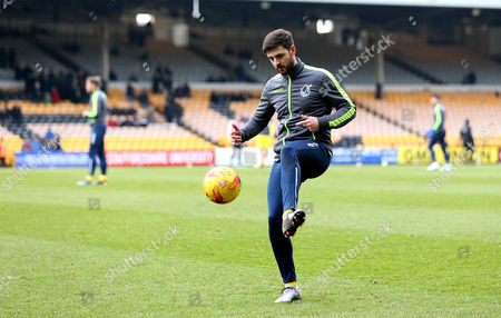Robert Harris of Bristol Rovers warms up ahead of his first start for the club