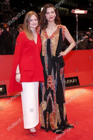 Jury members German actress Julia Jentsch (L) and US actress Maggie Gyllenhaal arrive for the Closing and Awards Ceremony of the 67th annual Berlin Film Festival, in Berlin, Germany, 18 February 2017. The Berlinale runs from 09 to 19 February.