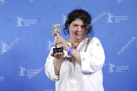 Dana Bunescu poses with the Silver Bear for Outstanding Artistic Contribution for Cinematography for the movie 'Ana, Mon Amour' during the closing and award ceremony of the 67th annual Berlin International Film Festival, in Berlin, Germany, 18 February 2017. The Berlinale runs from 09 to 19 February.