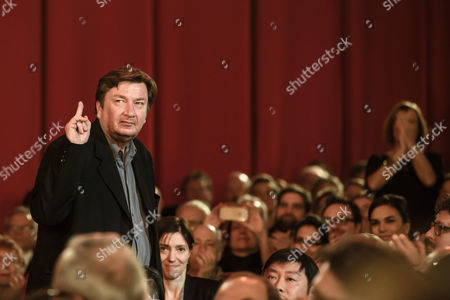 Finnish director Aki Kaurismaki  stands up to receive his award during the closing and award ceremony of the 67th annual Berlin International Film Festival, in Berlin, Germany, 18 February 2017. The Berlinale runs from 09 to 19 February.