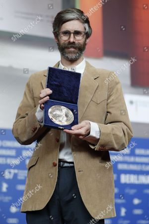 Stock Image of Director Esteban Arrangoiz, winner of the Silver Bear Jury Prize Short Film poses during the Award Winners press conference after the Closing and Awards Ceremony of the 67th annual Berlin Film Festival, in Berlin, Germany,  18 February 2017. The Berlinale runs from 09 to 19 February.