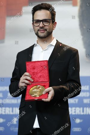 Stock Photo of Director Diogo Costa Amarante winner of the Golden Bear for Best Short Film poses during the Award Winners press conference after the Closing and Awards Ceremony of the 67th annual Berlin Film Festival, in Berlin, Germany,  18 February 2017. The Berlinale runs from 09 to 19 February.