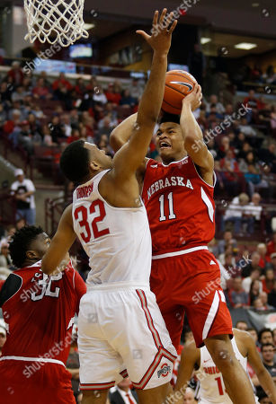 Evan Taylor, Trevor Thompson Nebraska guard Evan Taylor, right, goes up for a shot against Ohio State center Trevor Thompson during an NCAA college basketball game in Columbus, Ohio, . Nebraska won 58-57
