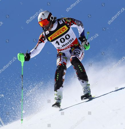 Mexico's Hubertus Von Hohenlohe competes during a men's slalom, at the alpine ski World Championships, in St. Moritz, Switzerland