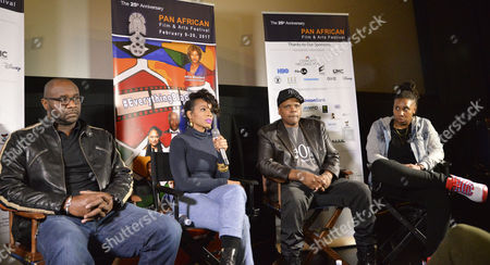 Editorial image of 'The Revolution Will Be Televised' panel, Pan African Film Festival, Los Angeles, USA - 18 Feb 2017