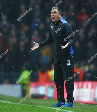 Blackburn Rovers manager Owen Coyle reacts during the Emirates FA Cup 5th Round match between Blackburn Rovers and Manchester United played at Ewood Park, Blackburn, on 19th February 2017