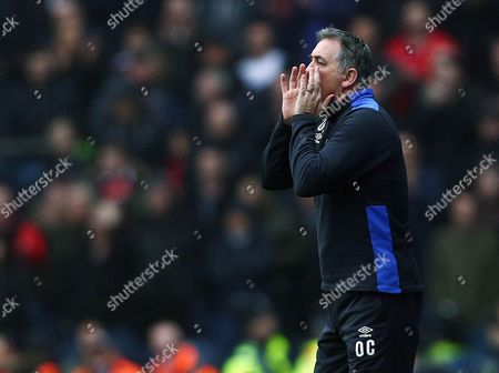 Stock Picture of Blackburn Rovers manager Owen Coyle issues instructions during the Emirates FA Cup 5th Round match between Blackburn Rovers and Manchester United played at Ewood Park, Blackburn, on 19th February 2017