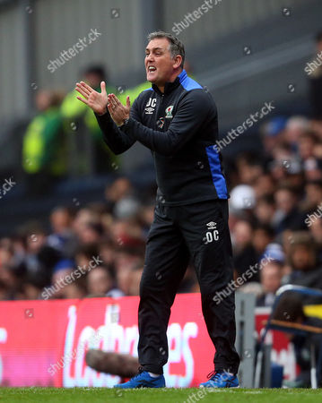 Blackburn Rovers manager Owen Coyle applauds his players