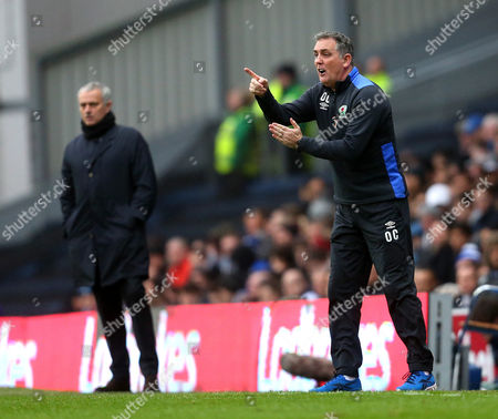 Blackburn Rovers manager Owen Coyle and Manchester United manager Jose Mourinho