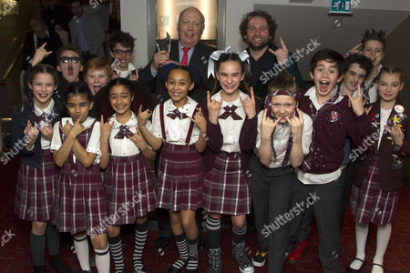 Gary Trainor and young School of Rock cast