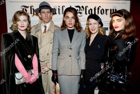 Bambi Northwood-Blyth and Charlotte Dellal with actors