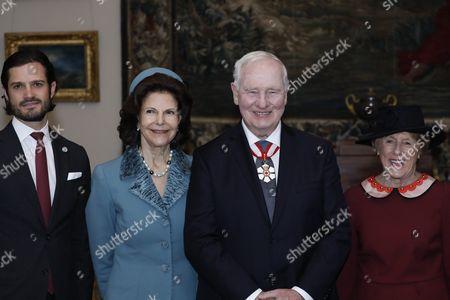 Stock Picture of Prince Carl Philip, Queen Silvia, David Lloyd Johnston, Sharon Johnston